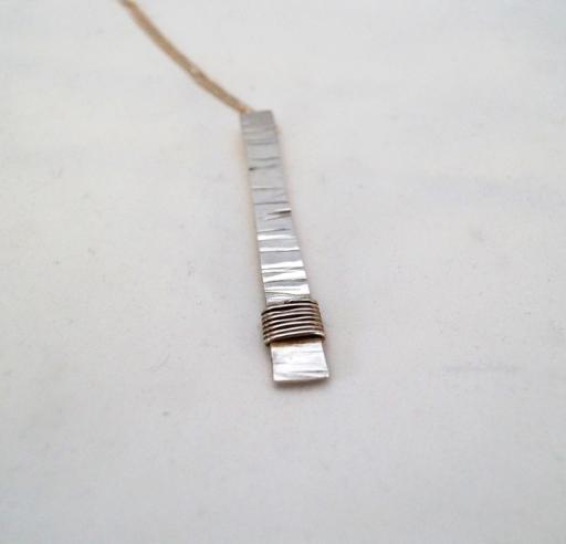zilver hanger aan gourmet ketting 45 cm