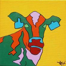 Popart, pop art, pop-art, pop art cow, popart cow, pop-art cow