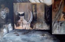 schilderij - bruin tinten