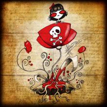 poppies; doek, canvas